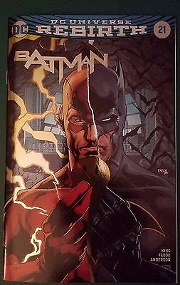 Batman #21 Rebirth 2017 DC C2E2 Foil Exclusive Variant The Button NO RESERVE NM