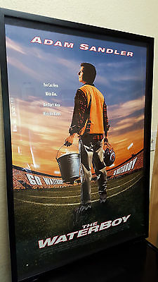 THE WATERBOY Full Sized 27 X 40 Framed Movie Poster AUTOGRAPHED Adam Sandler COA