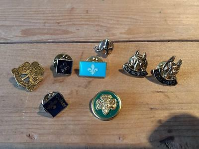 8 x Vintage Boy Scouts, Wolf Cubs & Girl Guides of Canada Pins Pinbacks