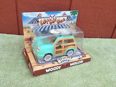 Vintage 1990's The Chevron Cars Woody Wagon w/ Surfboard New in Package