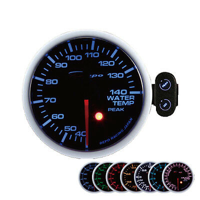 Depo Racing 2 3/8in Water temperature Display Instrument Warning tone Peak gauge