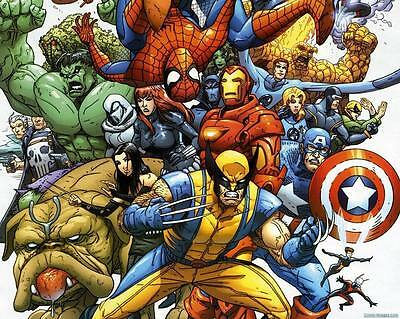 MARVEL COMICS CHARACTER  High Quality wall College Art poster Choose your Size