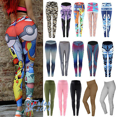 Womens Sports Gym Yoga Workout Leggings Fitness Stretchy Athletic Pants Trousers