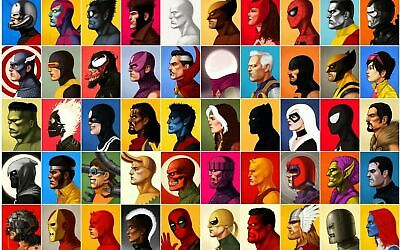 MARVEL COMICS CHARACTERS  High Quality wall College Art poster Choose your Size