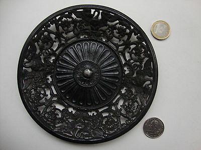 Berlin Cast Iron Decorative Plate with Swan Biedermeier ca.1820-1840