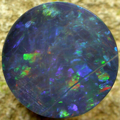 3.4ct SOLID BLACK OPAL STONE FROM LIGHTNING RIDGE