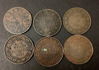 Canadian Coin - Large One Cent - Penny Lot - Canada