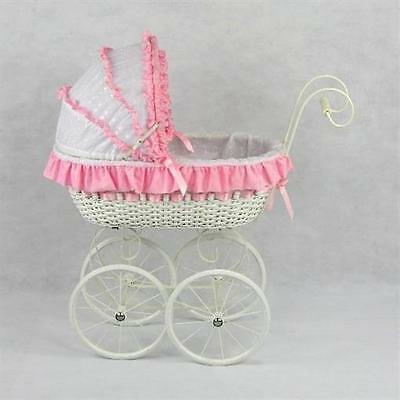 Regal Doll Carriages P555E Jacqueline Wicker Doll Carriage Buggy Stroller Pram