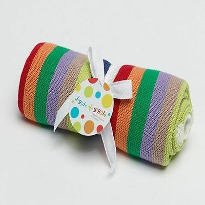 Baby Colourful Multi Stripe Cot Blanket - 100% Cotton