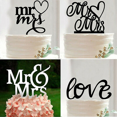 Acrylic Wedding Cake Topper Mr & Mrs Love Letter Wedding Party Cake Decoration