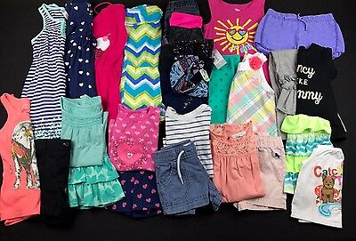 Girls Size 4-5 Spring Summer Shorts Shirts Dress Tank Rompers Mixed Lot Set