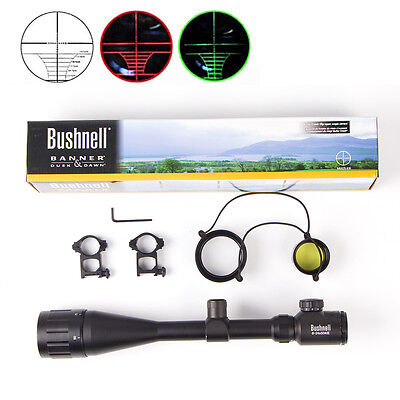 Bushnell Banner Black Elite 6-24x50AO Illuminated ERS Rifle Scope FREE Mounts