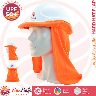 Hard Hat Flap Helmet Attach A Flap High Vis Colours Cotton or Micro Mesh NEW