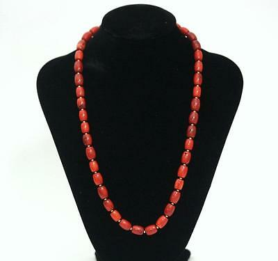 Fine Red Coral Necklace Natural 14K GOLD