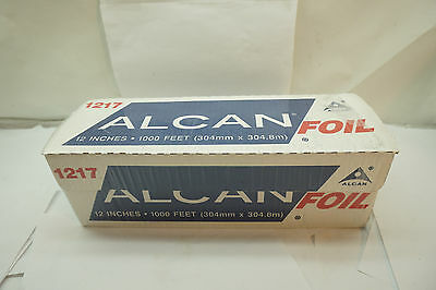 """Aluminum Foil Roll Alcan 1000 Feet Ft 12"""" Inches Wide Food Service 12703 1217"""