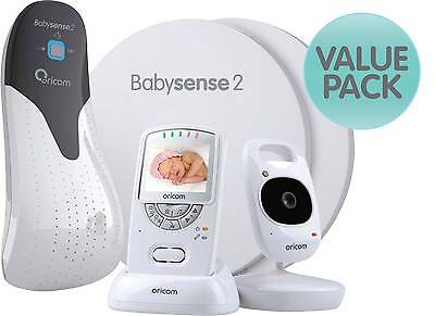 Oricom Babysense 2 Infant Breathing Movement Monitor + SC710 Dig Video Monitor