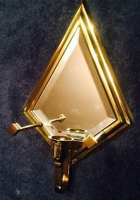 Partylite Infinity Sconce Taper Brass Mirrored Candleholder Missing Front Glass