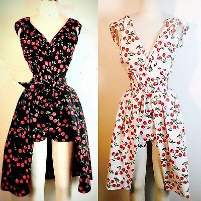 Vintage 1950-60's Rockabilly Women's Swankys 2Pc HOLLYWOOD Playsuit S-2XX