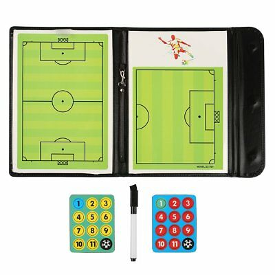 Football Coaches Clipboard Tactical Coaching Board Kit Dry Erase w/ Marker