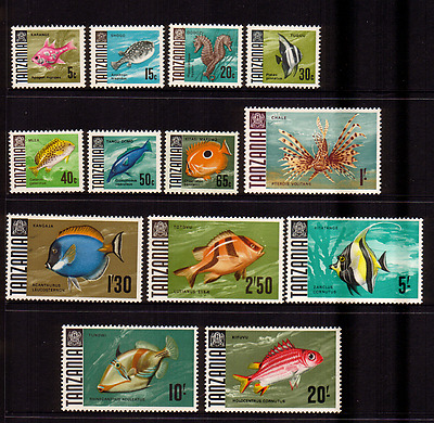 Tanzania  1967  13 Stamps  To 20/-....mint  Unhinged