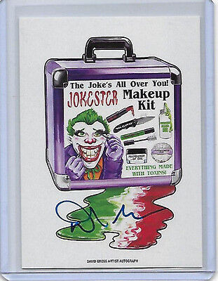 DAVID GROSS 2017 TOPPS WACKY PACKAGES ARTIST AUTOGRAPH Jokester Makeup Kit 08/25