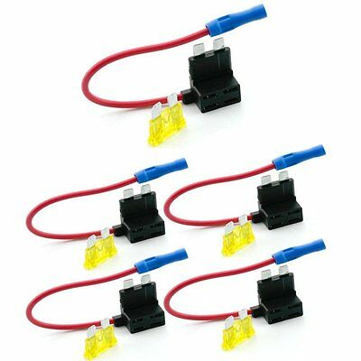 Car Circuit Fuse Tap Piggy Back Standard Blade Ato Atc Fuse Holder Box 12V 24V