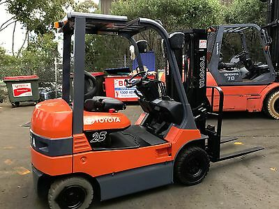 TOYOTA 7FB20 Electric Forklift 4.3m Container Mast $21,999+GST NEGOTIABLE