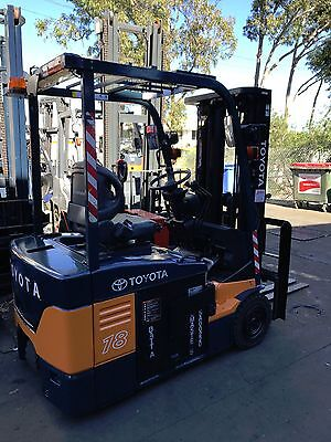 Toyota 7Fbe18 Electric Forklift 4.3M New Battery Container $14,999+Gst Negotiabl