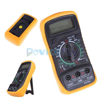 Digital LCD Multimeter Voltmeter Ammeter OHM AC DC VOLT Tester Checker XL830L