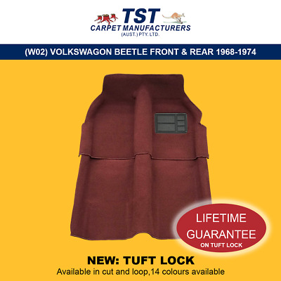 Moulded Car Carpets (W02) Volkswagon Beetle Front & Rear 1968-1974