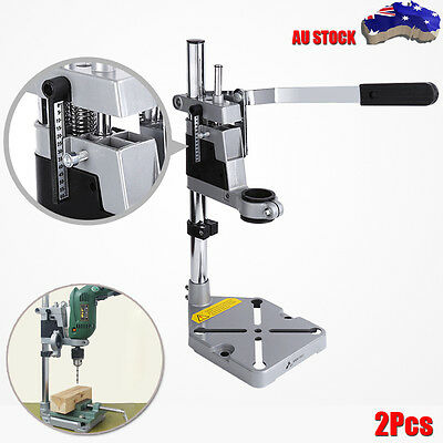 2PCS Universal Drill Press Stand with Heavy Duty Frame & Cast Metal Base Tool AU