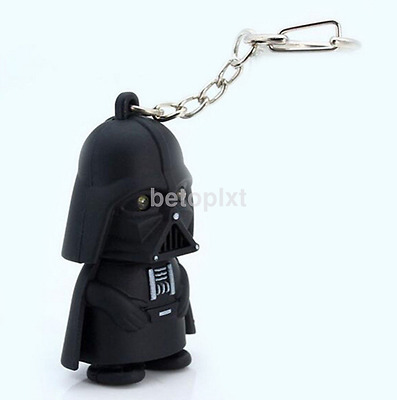 Red Light Up LED Star Wars Darth Vader With Sound Keyring Chic Gift FR