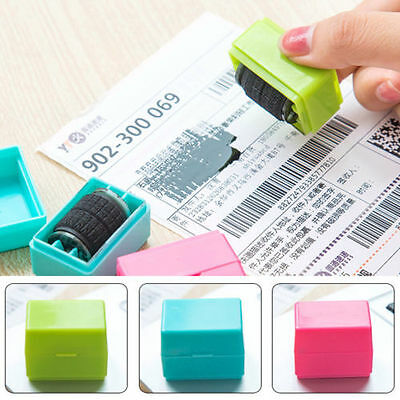 1pc Guard Your Information Roller Stamp SelfInking Messy Code Security Office
