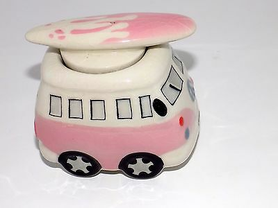 "Volkswagen Kombi Bus Van Collectible Ceramic Jar ""Cookie Style"""