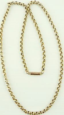 Vintage 9ct gold 18 inch long yellow gold neck chain weighs 6.8 grams