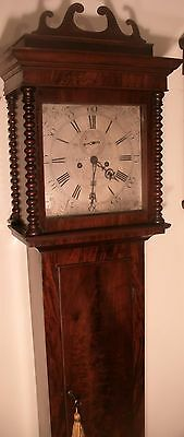 "Antique Slim Mahogany "" Bedminster"" 8 Day Longcase / Grandfather  Clock"