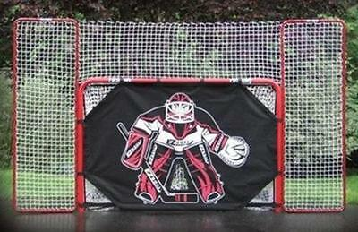 EZ Goal Hockey Folding Goal With Backstop Shooter Tutor Targets 2-Inch Red/White