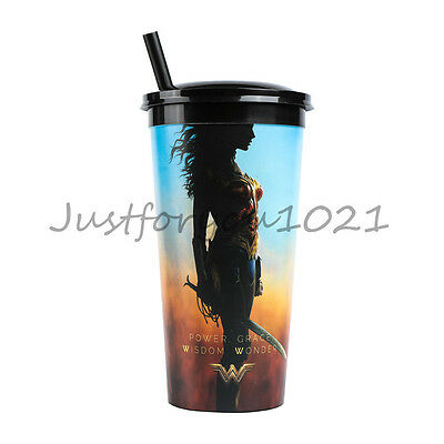 DC Comic Wonder Woman LOGO Diana Cup Movie Exclusive Sippy Cup Souvenir Gifts