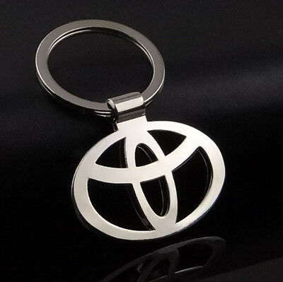 NEW Fashion 3D Hollow Car Logo Metal Keychain Pendant Holder Key Ring for Toyota