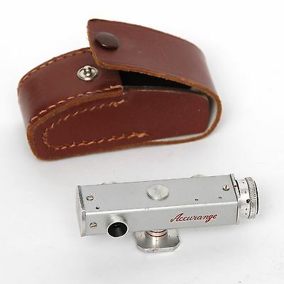 Vintage Accurange Camera Rangefinder in Working Order & with Sturdy Leather Case