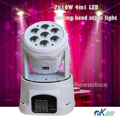 7x10W 4in1 RGBW LED Beam Moving Head Stage Light DJ Club American