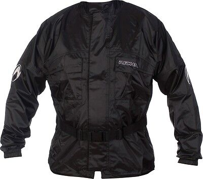 New Richa Rain Warrior Jacket Motorcycle/bike 100% Waterproof Coat Black- M