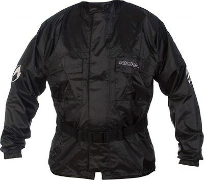 New Richa Rain Warrior Jacket Motorcycle/bike 100% Waterproof Coat Black- L