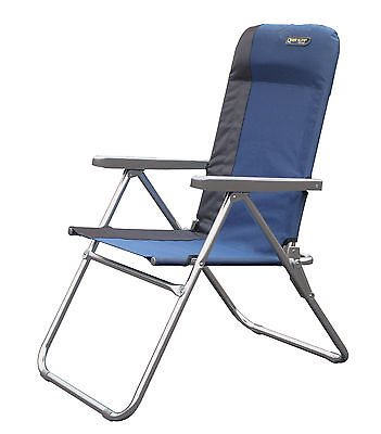 Quest Elite Deluxe Lightweight Folding Camping / Beach Chair in Blue