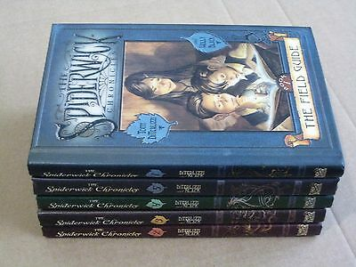 THE SPIDERWICK CHRONICLES set of books 1, 2, 3, 4 and 5 - hardcover vg