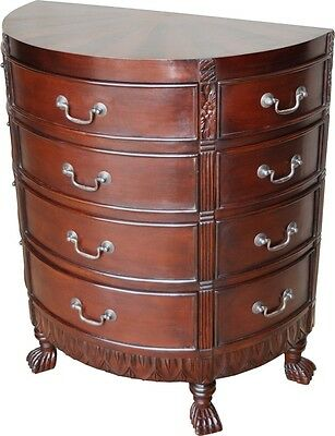 Solid Mahogany Sunburst Chest of Drawers Antique Reproduction NEW CHT033(swan)