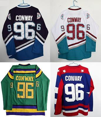 Mighty Ducks Movie Jersey #96 Charlie Conway All colors Hockey Jersey Stitched
