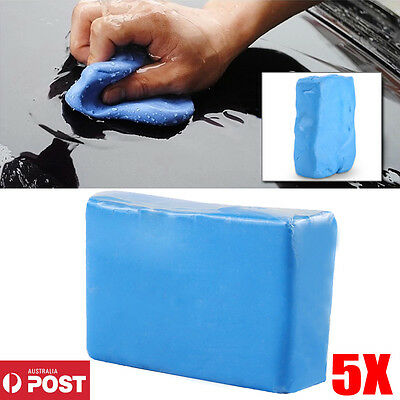 5X Magic Car Truck Clay Cleaning Bar Auto Vehicle Detailing Wash Cleaner Tool AU