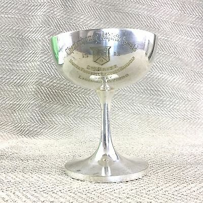 Antique Football Trophy Cup 1913 Charterhouse School Silver Plated Mappin & Webb