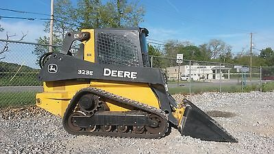 2015 Deere 323E track skid steer, 1230 hrs, cab/heat, 2 speed, shipping availabl